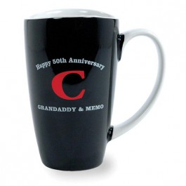 Black / White 17 1/2 oz Westminster Ceramic Coffee Mug