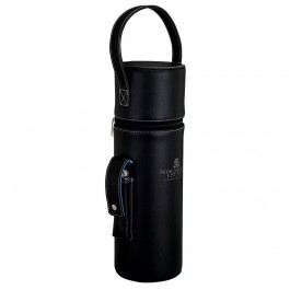 Black Single Wine Carrier with Corkscrew