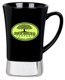 Black 12 oz. Ceramic & Stainless Steel Mug