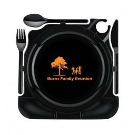 Black Plastic Cater Plate