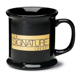 Black 13 1/2 oz Corporate Ceramic Coffee Mug