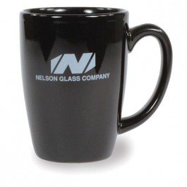 Black 16 oz Houston Ceramic Coffee Mug