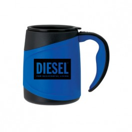 Blue / Black 15 oz. Microwaveable Two-Tone Mug