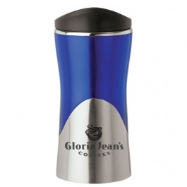 Blue / Silver 14 oz. Acrylic / Stainless Steel Curved Tumbler