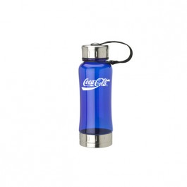 Blue / Silver 18 oz. Molded Grip Water Bottle