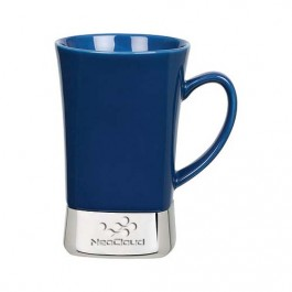 Blue 12 oz. Laser Etched Ceramic & Stainless Steel Mug