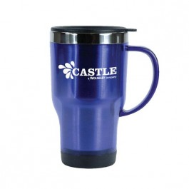 Blue 18 oz Fresno Stainless Liner Coffee Mug