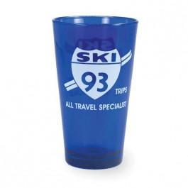 Blue 16 oz Full Spray Brewery Pint Beer Glass