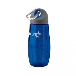 Blue 32 oz Tritan Clip-n-Sip Water Bottle