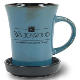 Blueberry 9 oz New Mexico Two Tone Ceramic Coffee Mug