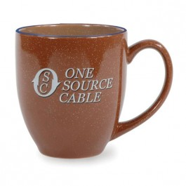 Brown 16 oz Daytona Ceramic Coffee Mug