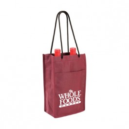 Burgundy Non-Woven Double Bottle Wine Bag