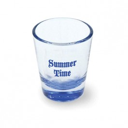 Clear / Blue 1 3/4 oz Neonware Shot Glass