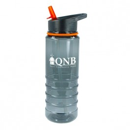 Clear / Orange 25 oz Aquapuree BPA Free Water Bottle