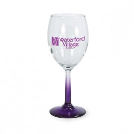Clear / Purple 7 3/4 oz Neonware White Wine Glass