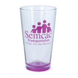 Clear / Purple 16 oz Neonware Spray Pint Beer Glass