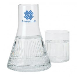 Clear Decanter and Drinking Glass Set