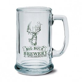 Clear 15 oz Glass Beer Stein