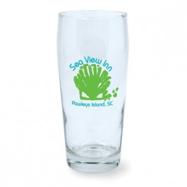Clear 20 oz Whig Beer Glass