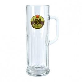 Clear 21 oz Frankfurt Glass Beer Mug