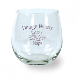 Clear 16 3/4 oz Stemless Wine Glass