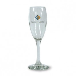Clear 5 3/4 oz Perception Glass Champagne Flute