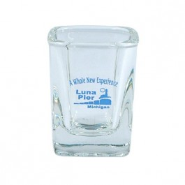Clear 2 oz Square Shot Glass