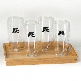 Clear 22 oz Binara Set w/Tray