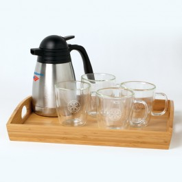 Clear 13 oz Binara Mug Set w/Tray & Carafe