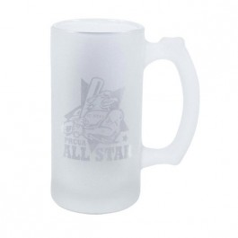 Frosted 12 oz Resist Frost Glass Beer Stein