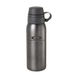 Graphite / Black 24 oz Engraved Dual Top Stainless Steel Water Bottle