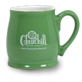 Green / White 16 oz Seattle Ceramic Coffee Mug