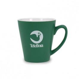 Green / White 12 oz Adams Two Tone Matte Ceramic Coffee Mug
