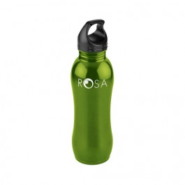 Green 25 oz Curvaceous Stainless Water Bottle