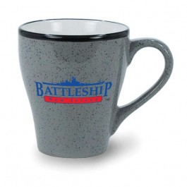 Grey 8 oz Ballston Ceramic Coffee Mug