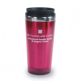Maroon / Black 16 oz Acrylic with Stainless Liner Tumbler