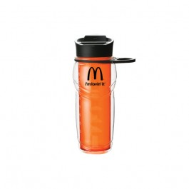Orange / Black 20 oz. Hinged Hook Water Bottle