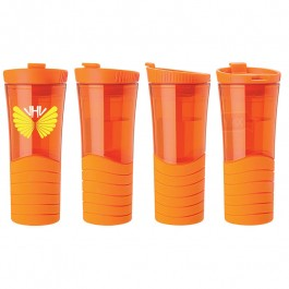 Orange 16 oz. Double Wall Rubber Grip Tumbler