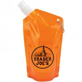 Orange 25 oz. PE Water Bottle Bag