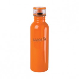 Orange 25 oz Engraved Stainless Steel Flip Top Water Bottle