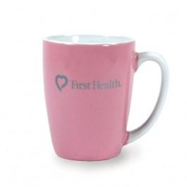 Pink 12 1/2 oz Challenger Ceramic Coffee Mug