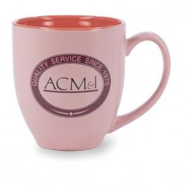 Pink 16 oz Pastel Bistro Matte Ceramic Coffee Mug