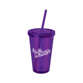 Purple 16 oz. Everyday Plastic Cup Tumbler