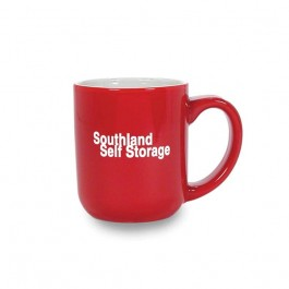 Red / White trified Ceramic Coffee Mug