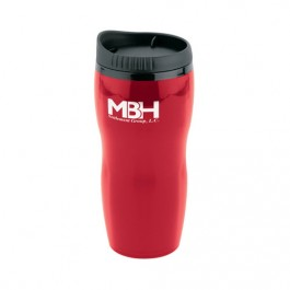 Red 16 oz Executive Ceramic Style Travel Tumbler
