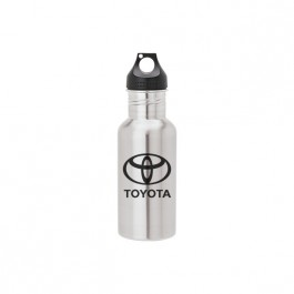 Stainless / Black 20 oz. Stainless Steel Canteen Bottle