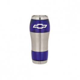 Silver / Blue 16 oz.  Ergonomic Tumbler