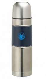 Silver / Navy 17 oz. Stainless Steel Sleeve Flask
