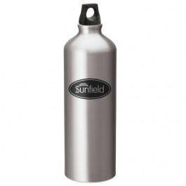 Silver 1L Aluminum Twist Top Sports Bottle
