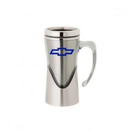 Silver 14 oz. Curved Handle Mug